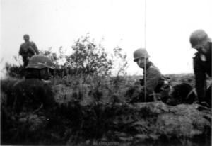 Major Baur am 01.09.1941 am Gefechtsstand des Infanterieregiments 470