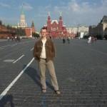 Der Verfasser auf dem Roten Platz