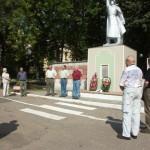 Kranzniederlegung am Denkmal der Roten Armee