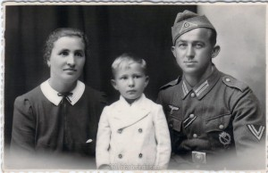 Michael Korn with his wife Resi and son Eduard