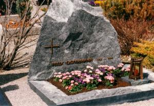 Das Grab von Hauptmann Ostermann
