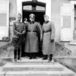 Oberst Oppenländer (rechts) mit Oberst Fremerey (links) und OTL Wenninger (mitte)