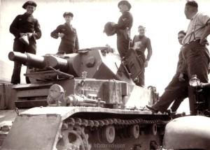 Panzer in der Bereitstellung zum Angriff