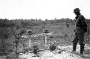 Grab von Lt Siegel und Uffz Schumacher der AA 260 bei Machault