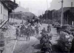 Auf dem Vormarsch durch Frankreich