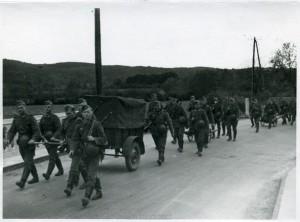 Die Infanterie marschiert...