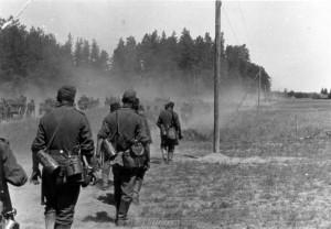 Infanterie auf dem Vormarsch