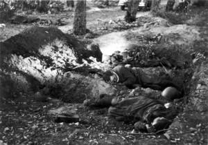 Das Grauen des Krieges - gefallene sowjetische Infanteristen