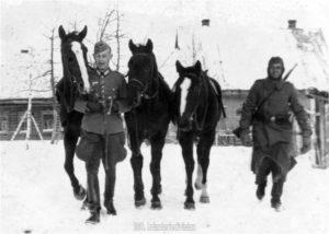 Der Divisions-Ib Hauptmann Köstlin in Ssawinki