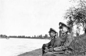 Leutnant Vincon und Hauptmann Gebhard