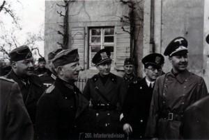 italienische Offiziere besuchen die Division