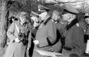 non links: Generalleutnant Schmidt - Major Maier - General der Artillerie Dollmann - Oberstleutnant Wenninger