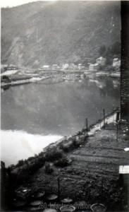 Die gesprengte Maasbrücke in Monthermé