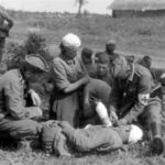 verwundete Russen werden versorgt