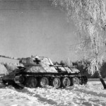 A captured T-34 tank in January 1943