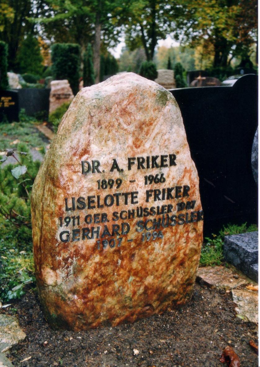 Das Grab von Dr. August Friker