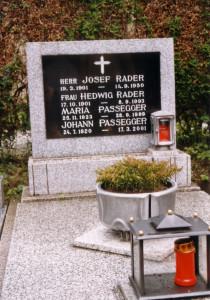 Das Grab von Johann Passegger - Dank an Werner Farwick und Helmut Trapp für die Gräberfotos