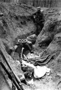 Stoßtrupp unter Oberleutnant Raff hat nördlich Kirow 900 Meter feindlichen Graben aufgerollt.