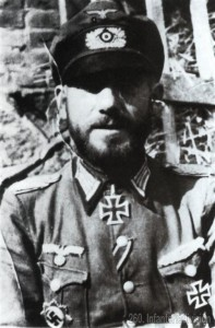 Major Otto Vincon with full decorations