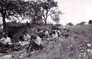 Die Infanteristen im Biwak