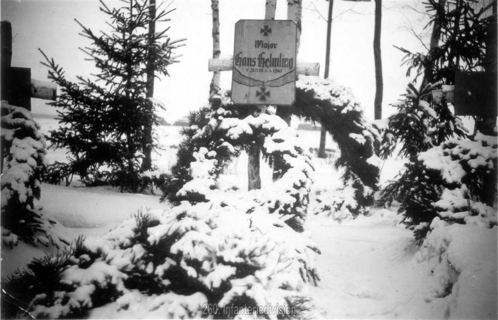 Das Grab von Major Helmling in Kononowka