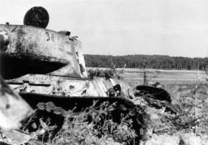 abgeschossener T34