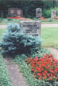 Die Grabstätte von Dr. Julius Bracher