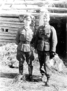 Oberstleutnant Strohm (rechts) mit Generalleutnant Hahm, dem Divisionskommandeur