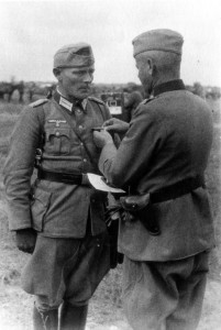 Maj Franz Müller erhält das EK I