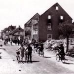 Neuenburg am Oberrhein nach französischem Beschuss