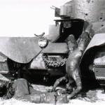 Ein abgeschossener T26 bei Romanischtsche am 24.07.1941