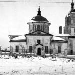 Die Gräber der bei Kremenki Gefallenen bei der Kirche Gosteschewo am 05.11.1941