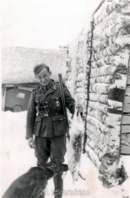 A snow rabbit, shot on 08th December 1942 near Sawinki