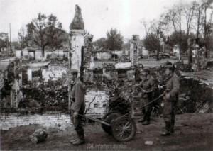 Das völlig zerstörte Gomel am 23. August 1941