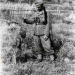 Im Niemandsland ich doch einen Auerhahn fand. Geschossen am 28.4.1941 zum Andenken an das schöne. Sowjet-Paradies
