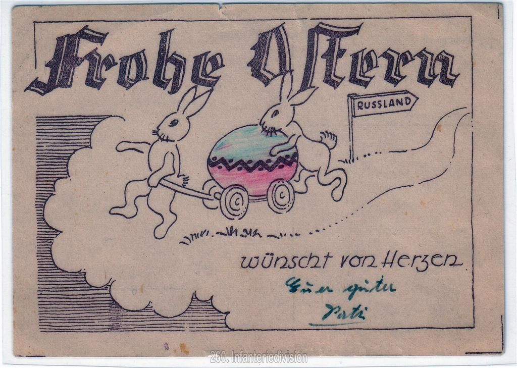 Postkarte zu Ostern - Vorderseite