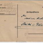 Postkarte zu Ostern - Rückseite