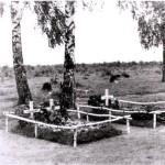 Das Grab von Hptm Vidal bei Guta 1941
