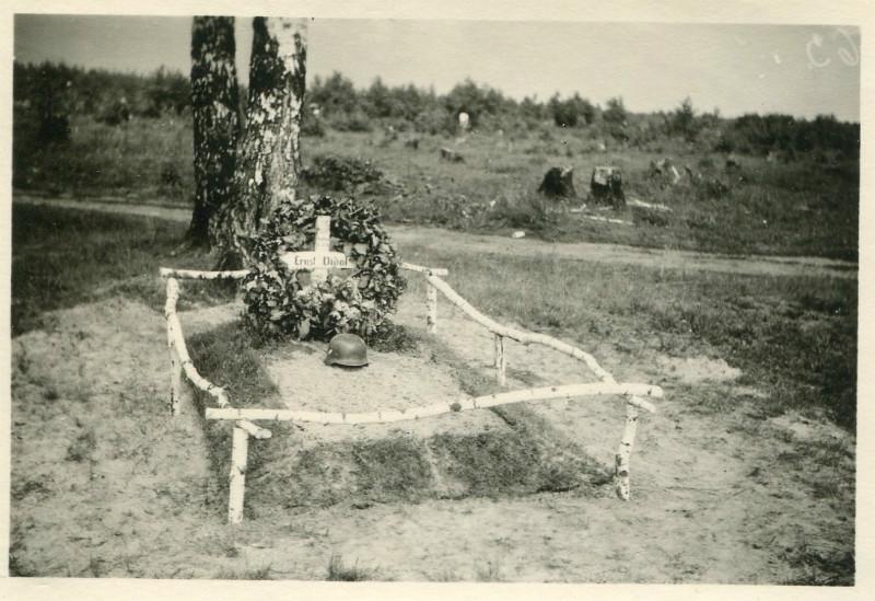 Das Grab von Hauptmann Vidal
