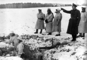 von links Gen Hahm - Gen Grässner - Gen Greiner - Maj Gebhardt - OTL Köstlin