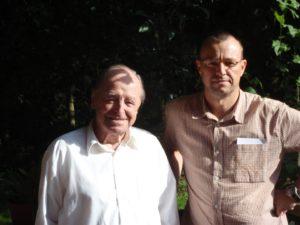 Der Autor mit Alfons Härtl im Jahr 2011