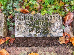 Die mögliche Grabstelle von Major Vincon