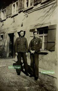 Die Brüder Eugen und Emil Killinger 1941