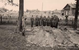 ein unbekannter Kamerad wird beerdigt