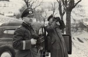 Spieß und Oberstabsveterinär Briehl