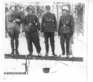 3. Batterie / Artillerieregiment 260 bei Stary Bychow im Februar 1944 (rechts Max Feth)