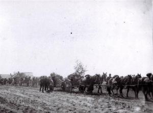 Feldhaubitze 10,5cm  der 3. Batterie / Artillerieregiment 260 zwischen Beresina und Dnjepr