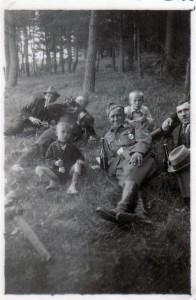 Mit Freunden und Sohn Edi