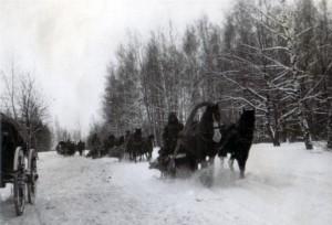 19411226 Rückzug auf der R1 bei Jilenskoje