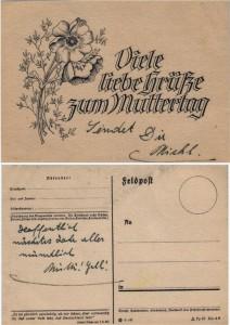 Feldpostkarte zum Muttertag